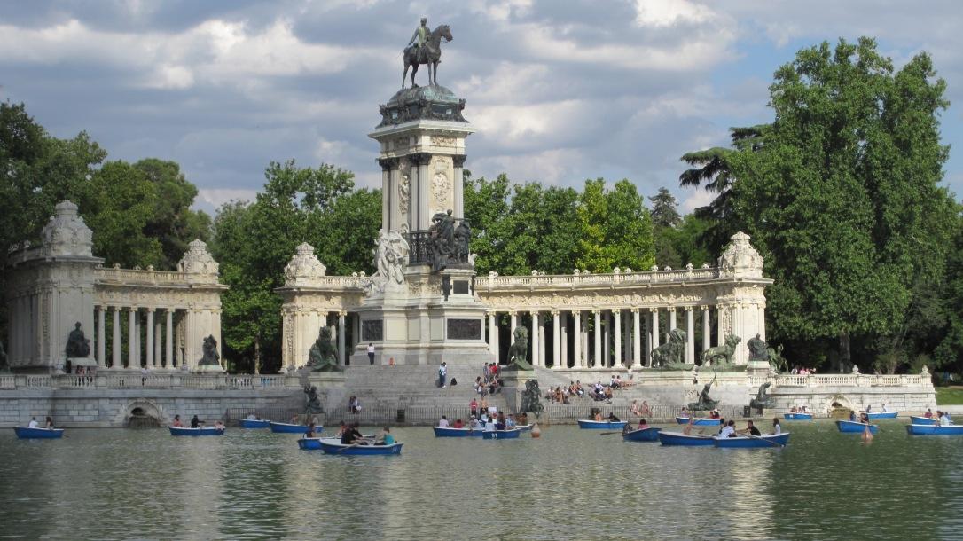 Estanque y monumento a Alfonso XII, Parque del Retiro